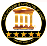 Bauer Financial 5 Star Rating